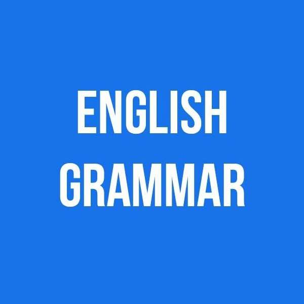 Course on English grammar