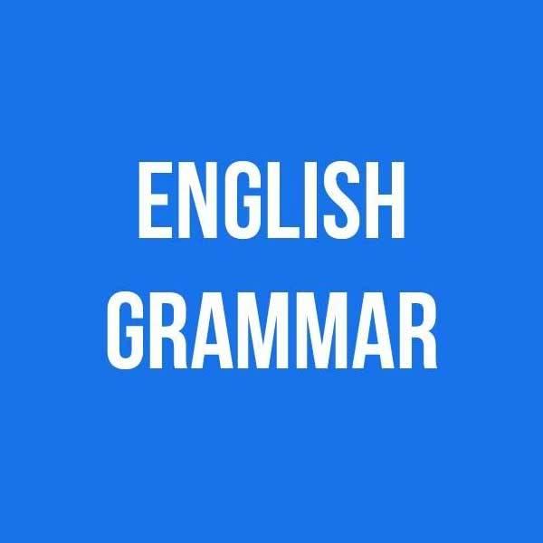 Course on English grammar