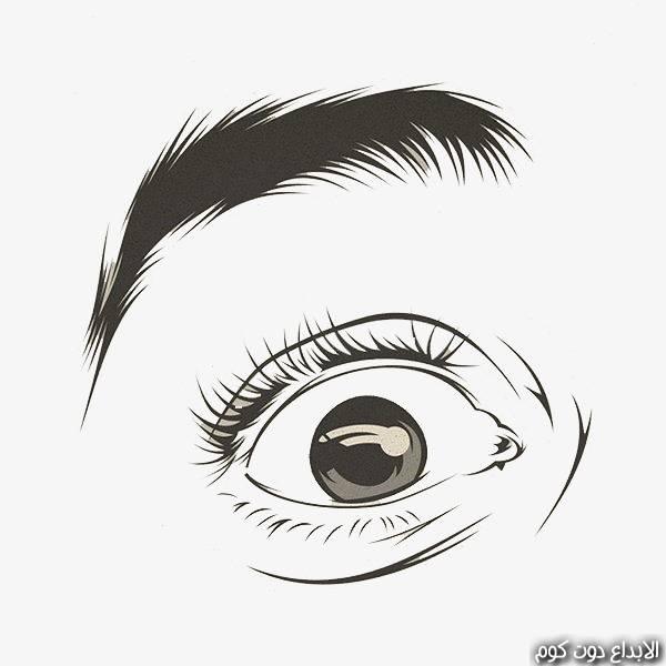 دورة تعلم رسم العين