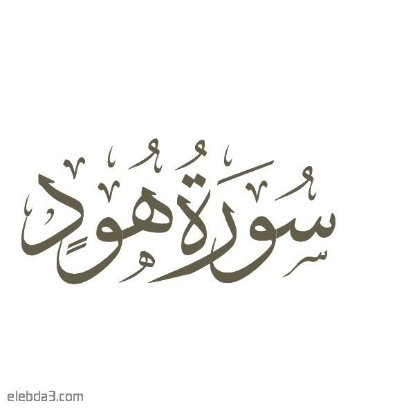 تفسير سورة  هود للشيخ الشعراوي