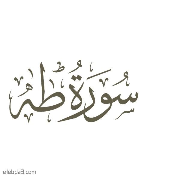 تفسير سورة  طه للشيخ الشعراوي