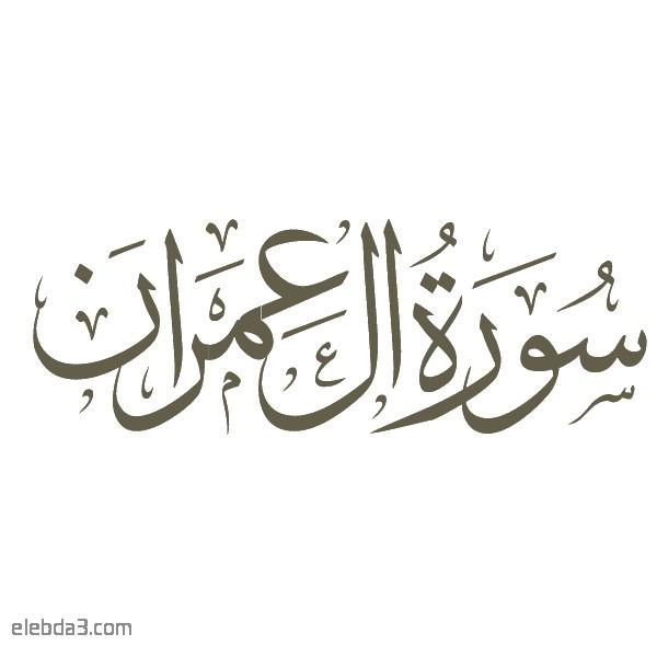 تفسير سورة  آل عمران للشيخ الشعراوي