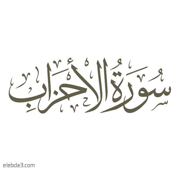 تفسير سورة  الأحزاب للشيخ الشعراوي