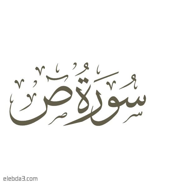 تفسير سورة  ص للشيخ الشعراوي