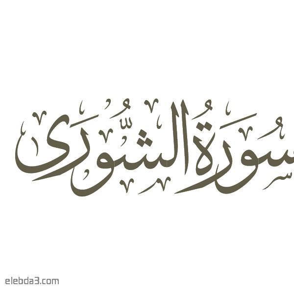 """طھظپط³ظٹط± ط³ظˆط±ط©  ط§ظ""""ط´ظˆط±ظ‰ ظ""""ظ""""ط´ظٹط® ط§ظ""""ط´ط¹ط±ط§ظˆظٹ"""