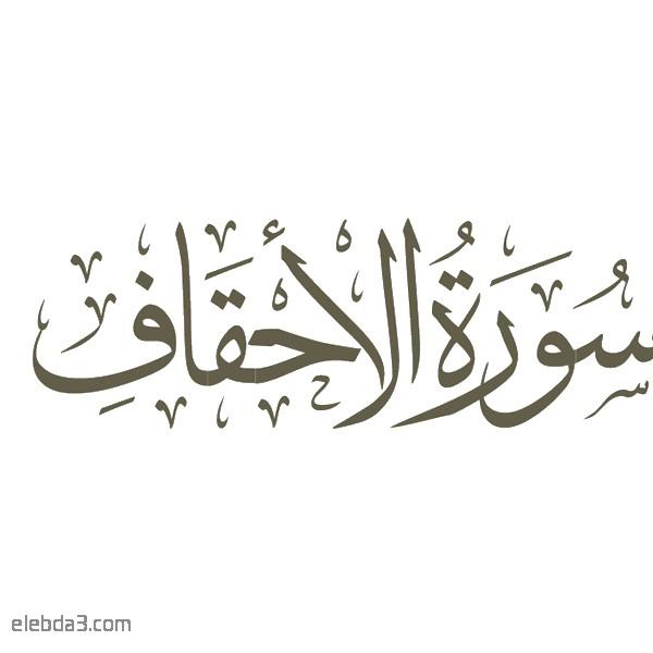 تفسير سورة  الأحقاف للشيخ الشعراوي