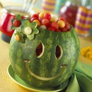 تزيين الخضروات والفاكهة
